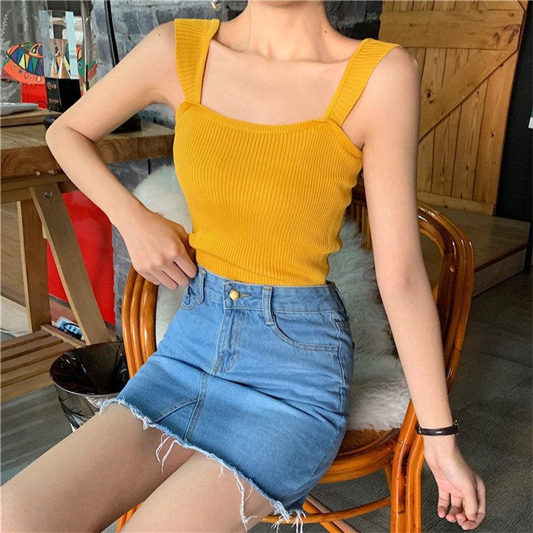 American style sexy crop top women red black blue white crop top femme summer crop top casual streetwear in Tank Tops from Women 39 s Clothing