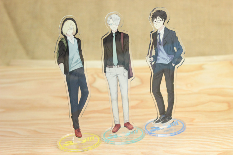 10pcs/lot Anime YURI ON ICE Acrylic Stand Model Toys Acrylic Action Figure Accessory Pendant collection 15cm double-side