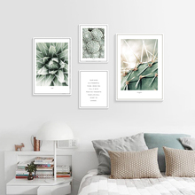Green Plants Poster Cactus Succulent Painting Nordic Canvas Quotes Posters And Prints Wall Art Picture Unframed
