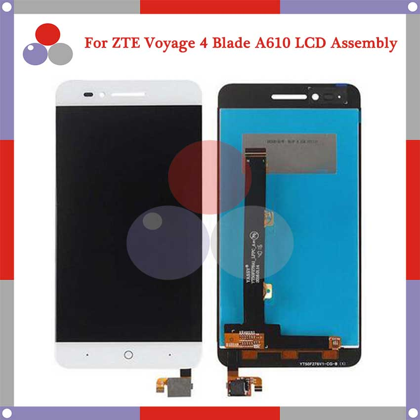 Подробнее о Highest quality For ZTE Voyage 4 Blade A610 TD-LTE LCD Screen Display + Touch Screen Digitizer Assembly Free Shipping white black for zte blade a610 td lte lcd display touch screen digitizer assembly replacement free shipping