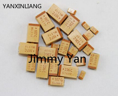 50PCS <font><b>0805</b></font> <font><b>SMD</b></font> tantalum <font><b>capacitors</b></font> P 6.3V 10UF P -type accuracy of 10% image