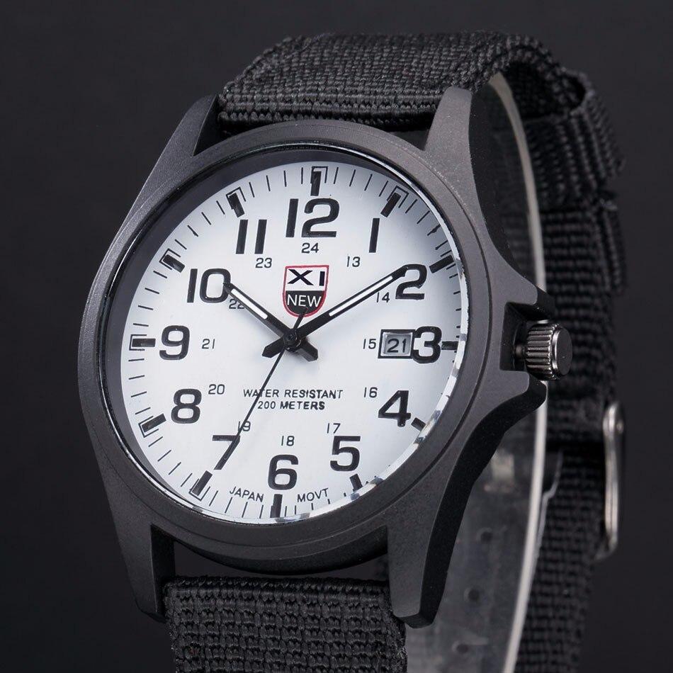 Fantastyczny xinew luksusowe boisko sportowe mężczyzna zegarka kalendarz data mens steel analogowe kwarcowy zegarek wojskowy erkek relogioi kol saat 17