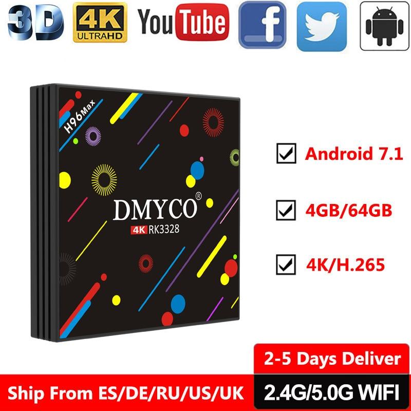 цена на 4GB RAM 64GB Flash android tv box H96 Pro RK3328 Quad Core android 7.1 TV Box Wifi HDMI 4K H.265 HDR Internet TV 4K Media Player