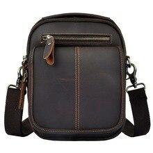 купить Fashion Real Leather Male Casual Multifunction Waist Belt Bag Messenger bag Satchel Cross-body Shoulder Tote bag For Men 8025 по цене 1659.54 рублей