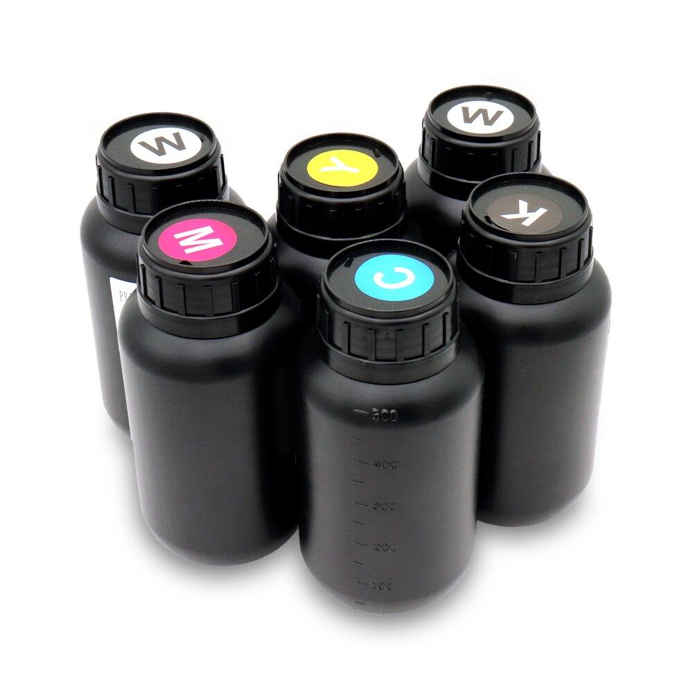 1L X 5 pièces nouvelle encre UV LED universelle améliorée pour tête d'impression Ricoh (K C M Y W) de haute qualité