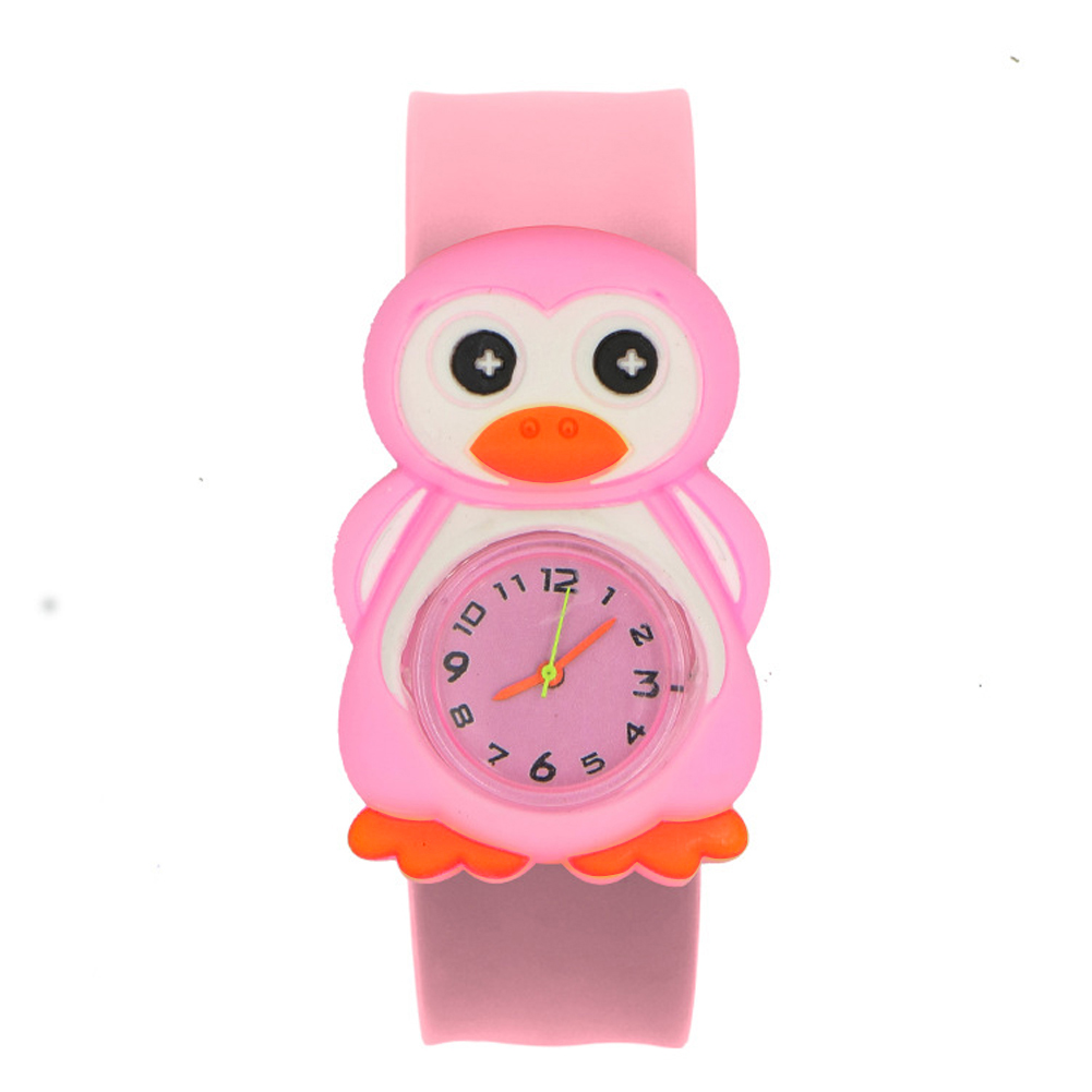 Toys Student Interesting Wrist Cartoon Pattern Patted Table Silicone Tape Sweet Gift 3D Annimals Birthday Children Watch Durable