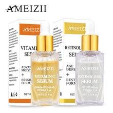 Ameizii Vitamin C Retinol Serum Brighten Skin Shrink Pore Whitening Cream Anti Wrinkle Firming Care Essence Face Treatment