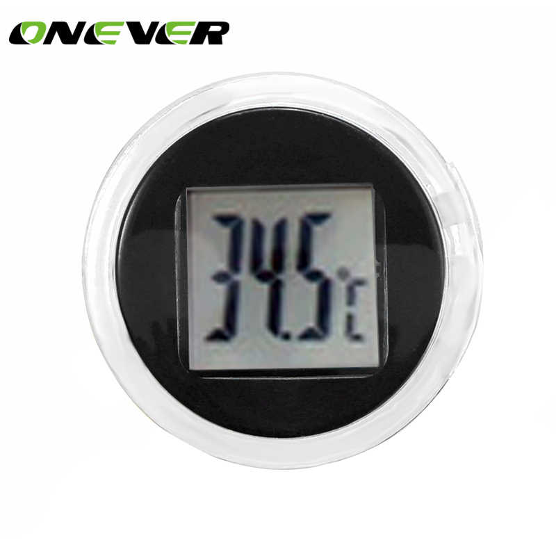 Onever Motorcycle Digital Thermometer Celsius Waterproof Stick-On Motorbike Mount Digital Thermometer Clock Moto Accessories
