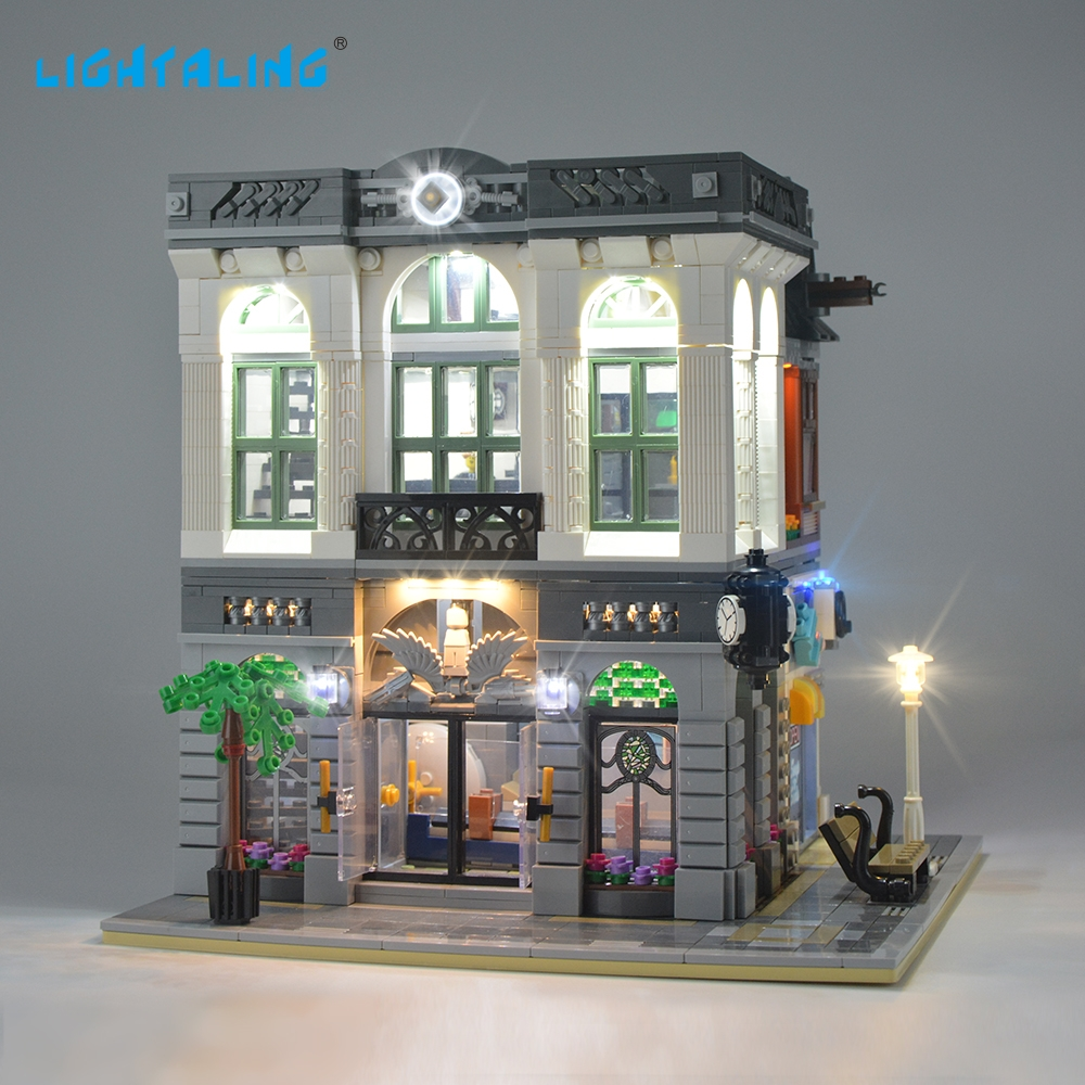 Lightaling LED Light Kit för Creator Brick Bank 10251 Light Set (INTE INKLUDERA MODELLEN)