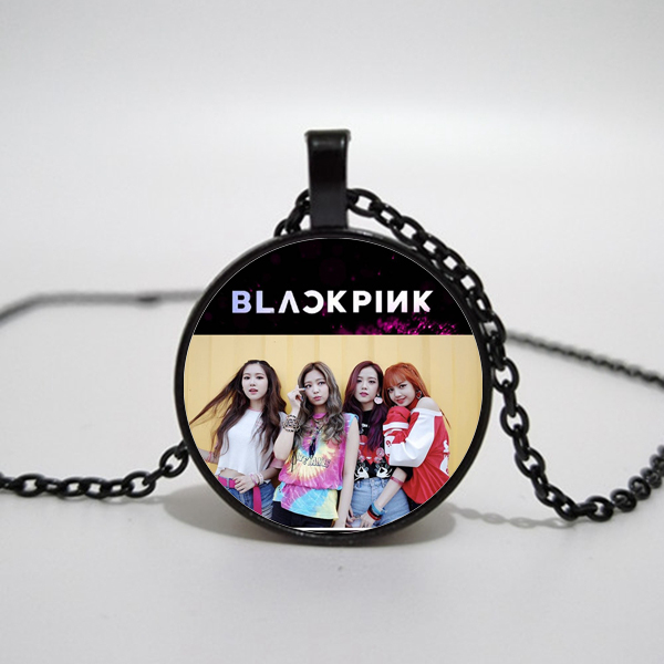 Korean Women's Team Blackpink Exquisite Time Glass Necklace Pendant Handmade Custom Men And Women Necklace Name Necklace