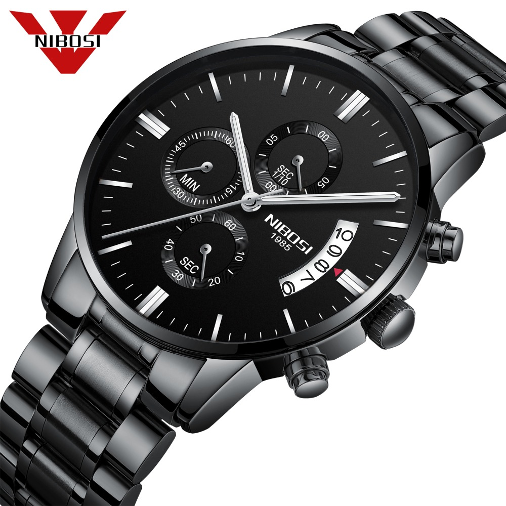 NIBOSI Relogio Masculino Men Watches Top Brand Luxury  Men's Fashion Casual Dress Watch Military Quartz Wristwatches Saat 2309