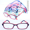 wholesale lot T8040 pupil TR90 colorful 180 degree flexible spring hinge rectangle with silicone tips optical eyeglasses frame