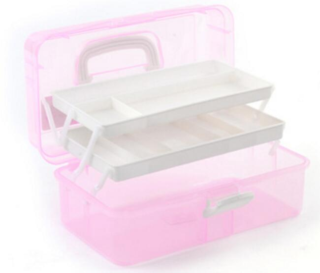New 2017 Fashion Nail Art Tool Box Multi Utility Storage 3 Layer Plastic Case Makeup Craft Manicure Salon Kit Accessories spark storage bag portable carrying case storage box for spark drone accessories can put remote control battery and other parts