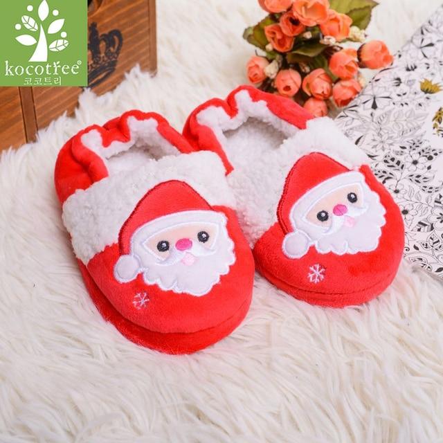 US $6.05 52% OFF|Aliexpress.com : Buy Kocotree Kids Winter Slippers Girls  Boys Soft Warm Walkers Shoes Cartoon Santa Claus Wooden Floor Bedroom ...