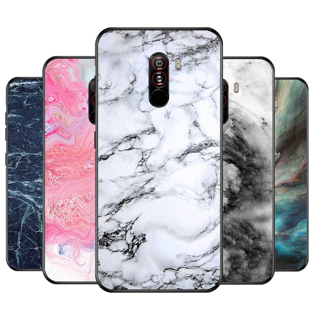 the best attitude 0da4f ef402 US $2.59 |Gumei Marble Design Phone Case For Xiaomi Pocophone F1 Soft  Silicone TPU Simple Back Cover Case For Xiaomi POCO F1-in Fitted Cases from  ...