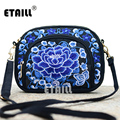 Double Faced Boho Thai Embroidered Bags Flower Embroidery Cross-body One Shoulder Women Famous Brand Messenger Bags Ladies Small