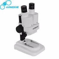 AOMEKIE 배 양안 스테레오 현미경 PCB 납땜 도구 휴대 전화 수리 슬라이드 미네랄 보고 현미경 아이 선물