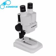 AOmekie 20X бинокулярный стерео микроскоп LED пайки печатных плат инструмент ремонт мобильный телефон Горки минеральная просмотра микроскоп детский подарок