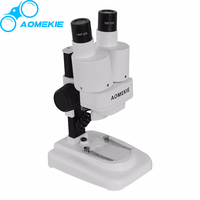 Portable 20X Children Kids Student Cordless LED Binocular Stereo Microscope Biological Science Educational Toy