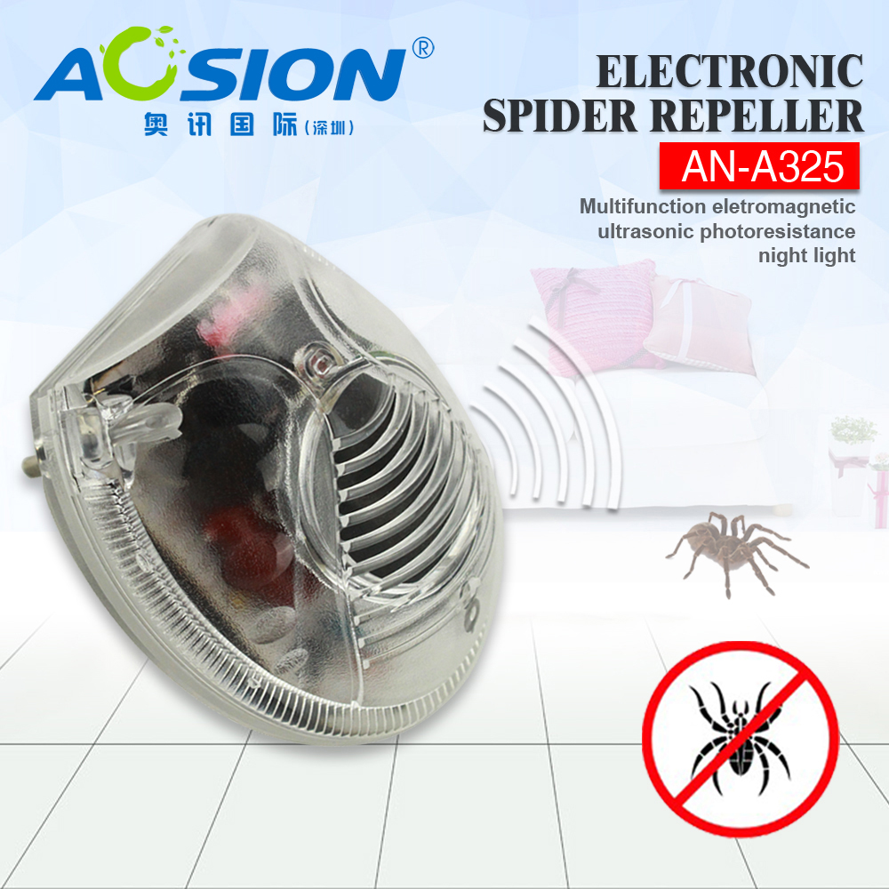 Home Aosion Eletronic & ultrasonic bugs / spider repellent  ultrasonic rat repeller pest repeller with LED night light цены онлайн