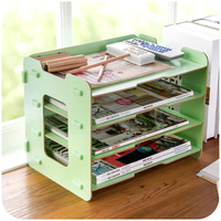 Creative Wooden Office Desktop File Storage Box File Frame Data Frame A4 Paper Finishing Cabinets