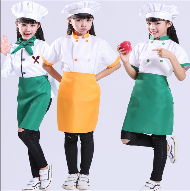 Children Roleplay Uniform.  Cooking Chef Party Wear