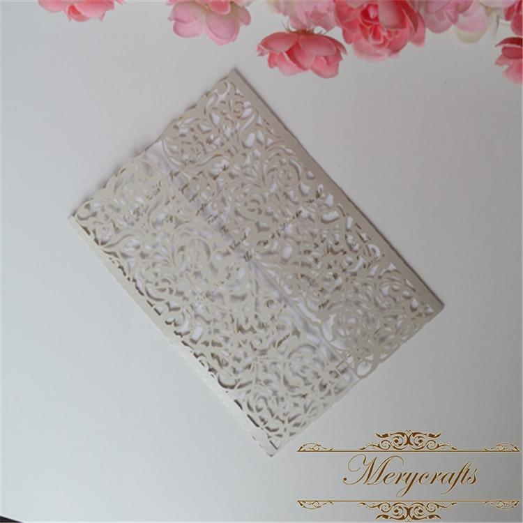 Swirls stencil scroll door gate folded wedding invitation laser ...
