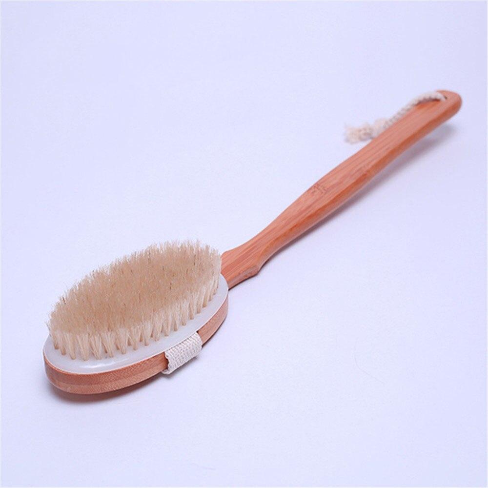 Wooden Bath Shower Body Back Brush Detachable Japanese Style SPA ...