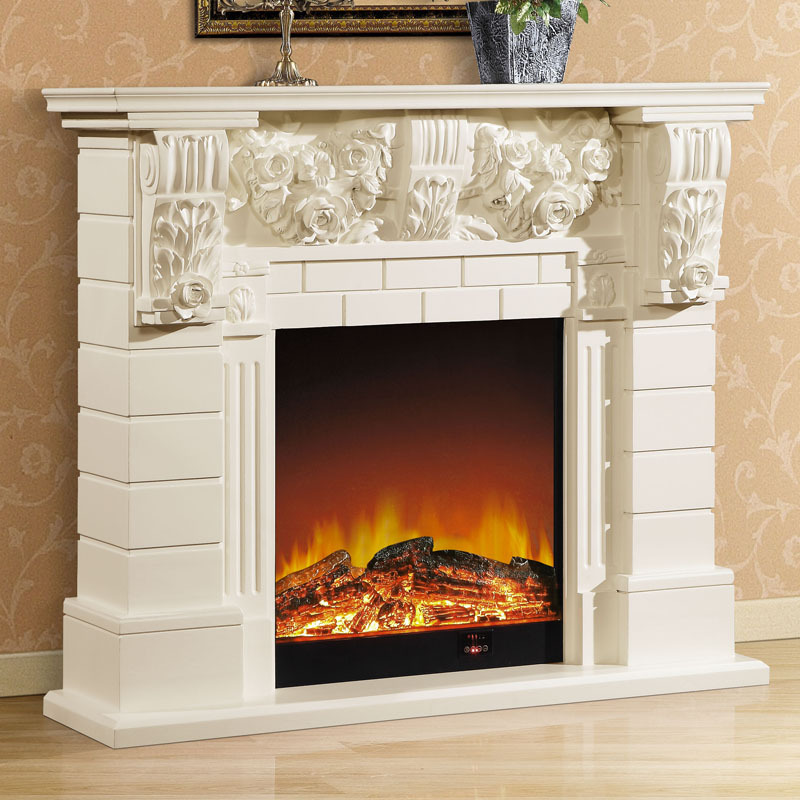 1.3 M High End European Style Fireplace Wood Carving
