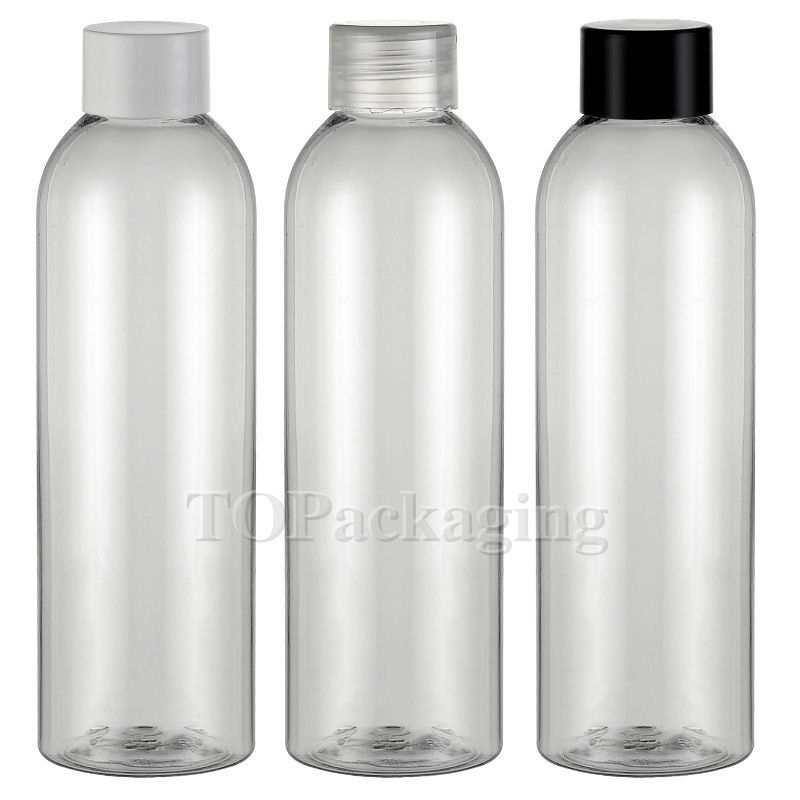 30PCSLOT-200ML Screw Cap Bottle,Clear Plastic Cosmetic Container,Sample Essential Oil Sub-bottling,Empty Shampoo Bottle