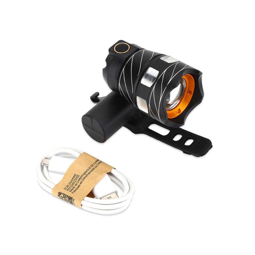 Велосипед фар T6 светодио дный велосипед свет 360 градусов вращающийся велосипед спереди лампы Факел фар с USB Перезаряжаемые встроенный Батарея