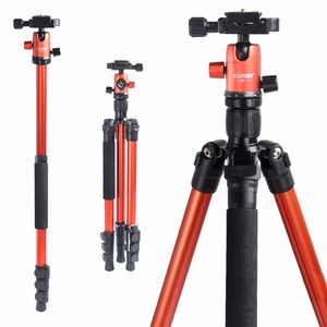 Image 1 - ZOMEI M3 كاميرا ترايبود و Monopod خفيفة الوزن السفر ترايبود مع 360 درجة الكرة رئيس و حقيبة حمل ل SLR DSLR كاميرا رقمية