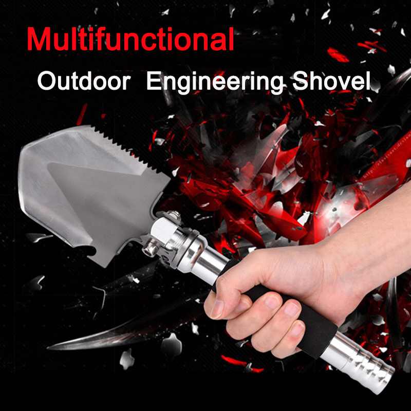 Camping Equipment Shovel  Hiking Accessories Multi Tool Outdoor Survival Multitool Portable Multifunction Spade Folding Shovel|Outdoor Tools| |  - title=
