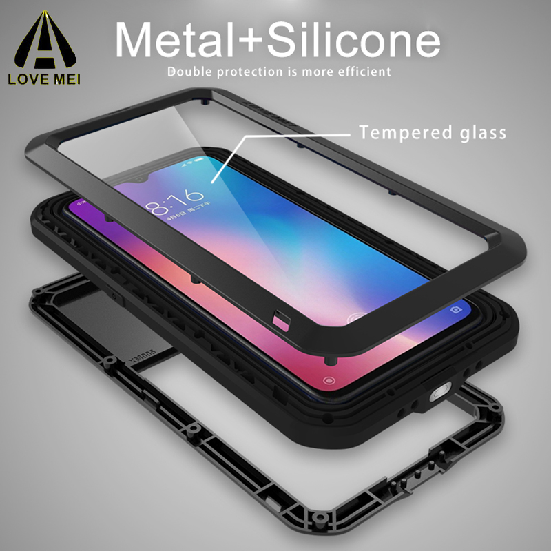 Image 5 - LOVEMEI Powerful IP68 Waterproof Shockproof Metal Case For  Samsung Galaxy A70 Aluminum Silicone Tempered Glass Phone Cover  BagFitted Cases