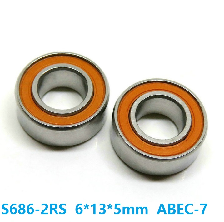 10PCS 6*13*5MM 6x13x5mm Black Rubber Sealed Ball Bearing 686RS 686-2RS