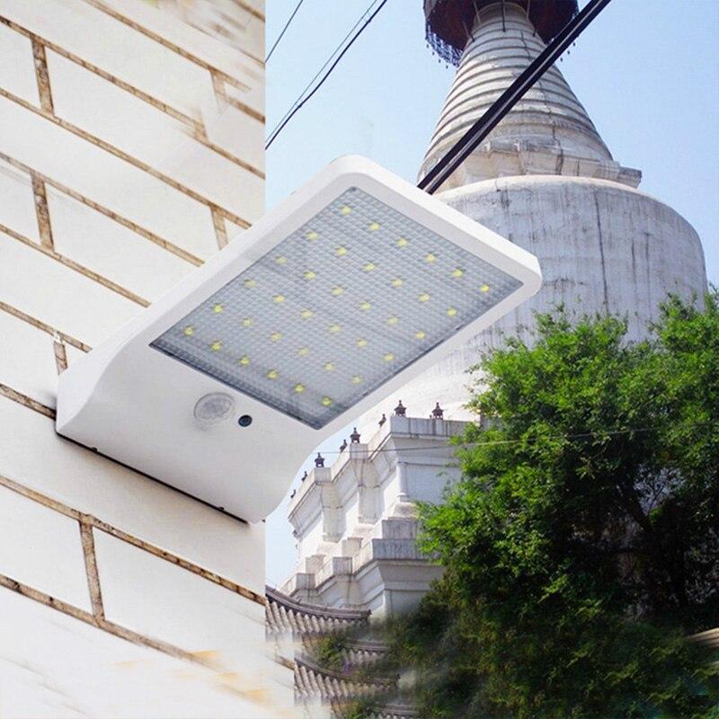 Smart 450LM 36LED Ultra mince solaire puissance led mur lampe IP65 Étanche PIR Motion Sensor Lumière Jardin de La Rue Chemin Lumières