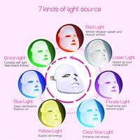 3 7 Colors Light Photon Electric LED Facial Mask Skin PDT Skin Rejuvenation Anti Acne Wrinkle