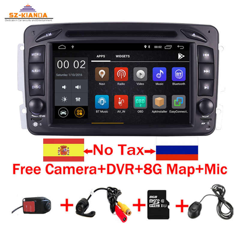 "In Stock 7""Android 9.0 Car DVD Player For Mercedes Benz CLK W209 W203 W463 W208 Wifi 3G GPS Bluetooth Radio Stereo audio media"