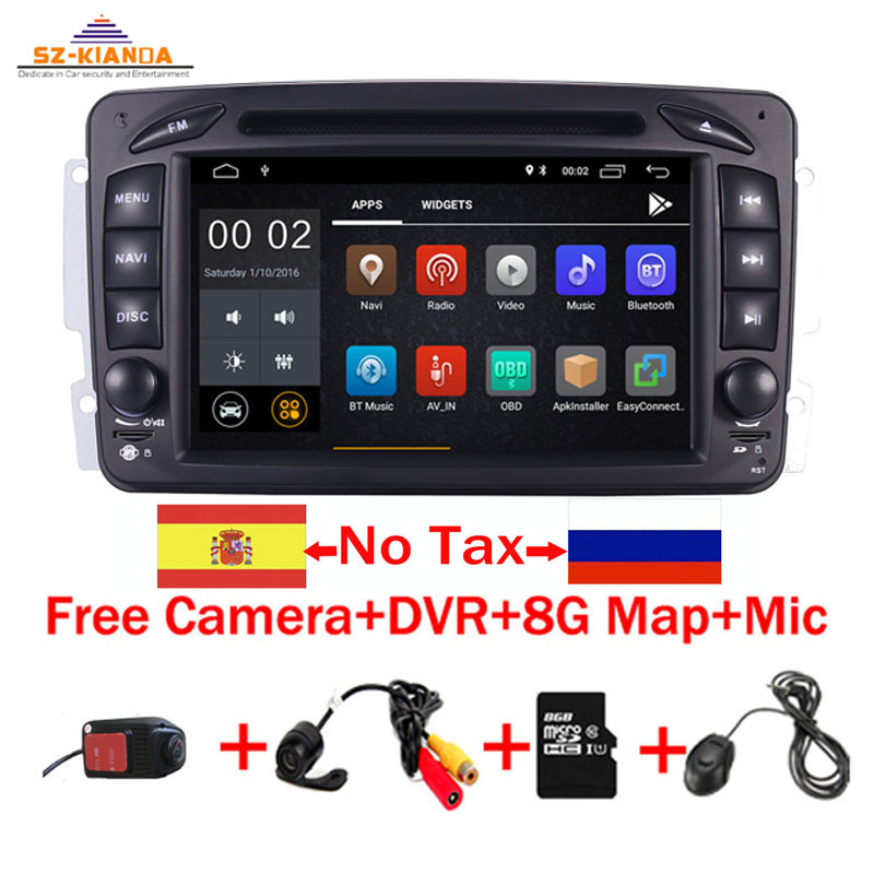 В наличии 7 Android 8,1 dvd плеер автомобиля для Mercedes Benz W209 W203 W463 Viano W639 Vito Wi Fi 3g gps Bluetooth Радио стерео аудио