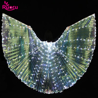 Ruoru Led Isis Wings With Holding Sticks Belly Dance Accessories Stage Performance Props Shining Led Wings
