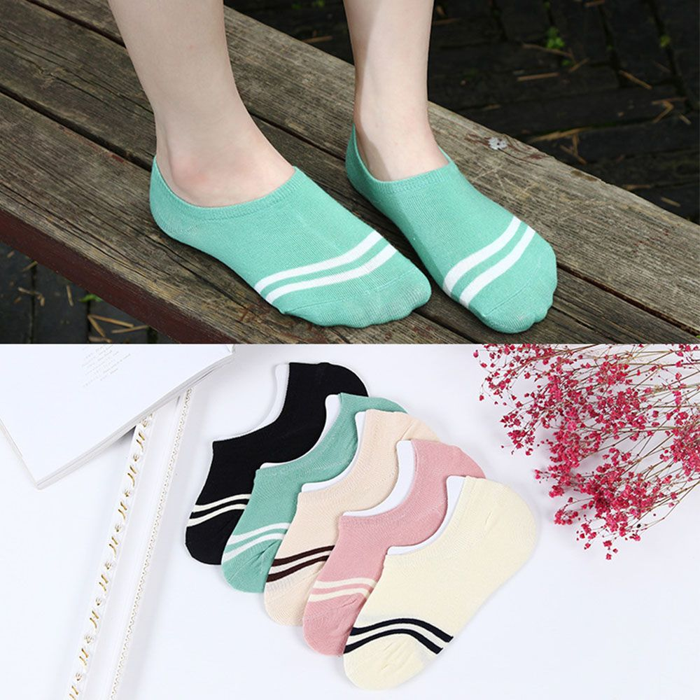 comfortable 1pair cotton girl women's socks low cut ankle female invisible color boat sock boy hosiery ladies slipper