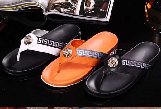 e0a37c8ad81ad op fashion men shoes good quality men s sandals hot sale flip flops luxury  brand summer shoes slip-on casual slippers for men