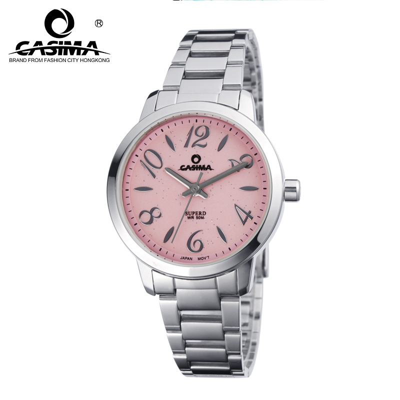 CASIMA Women Watches Waterproof Stainless Steel Ladies Quartz Wrist Watch Fashion Casual Female Clock 2017 Saat Relogio Feminino relogio feminino casima women watches fashion waterproof leather diamond ladies quartz wrist watch clock saat 2018 reloj mujer
