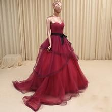 купить Real photo 2015 luxury Croset Bodice New arrival Top Quality Lace up back Wedding Dresses Burgundy Bridal Gowns Made in China по цене 10367.31 рублей