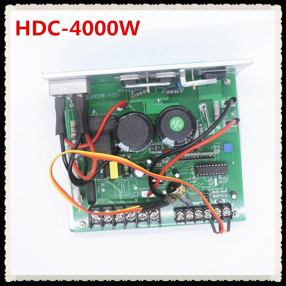 Contrôleur de vitesse de moteur à courant continu haute puissance 4000 W pour moteur 180 V commutateur de régulation de vitesse en continu HDC-4000W de carte d'entraînement de moteur à courant continu