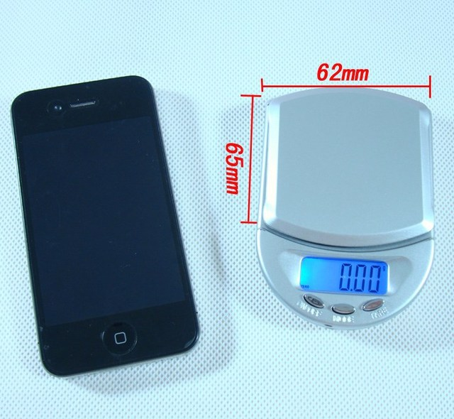 200g/0.01g Silver High Accuracy Digtal Kitchen Food Balance Used in Kitchen Mail Room or office Fashion
