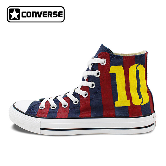 5eb768ae4dbc Original Hand Painted Converse Shoes Women Men Design Soccer Jersey  Football Number 10 High Top Canvas