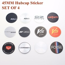 цена на 4PCS/LOT High Quality 45MM ENKEI WORK VS Wheels Center Cap Stickers VOSSEN OZ LOGO Sticker Badge Emblems Wheel Cover Hub Cap
