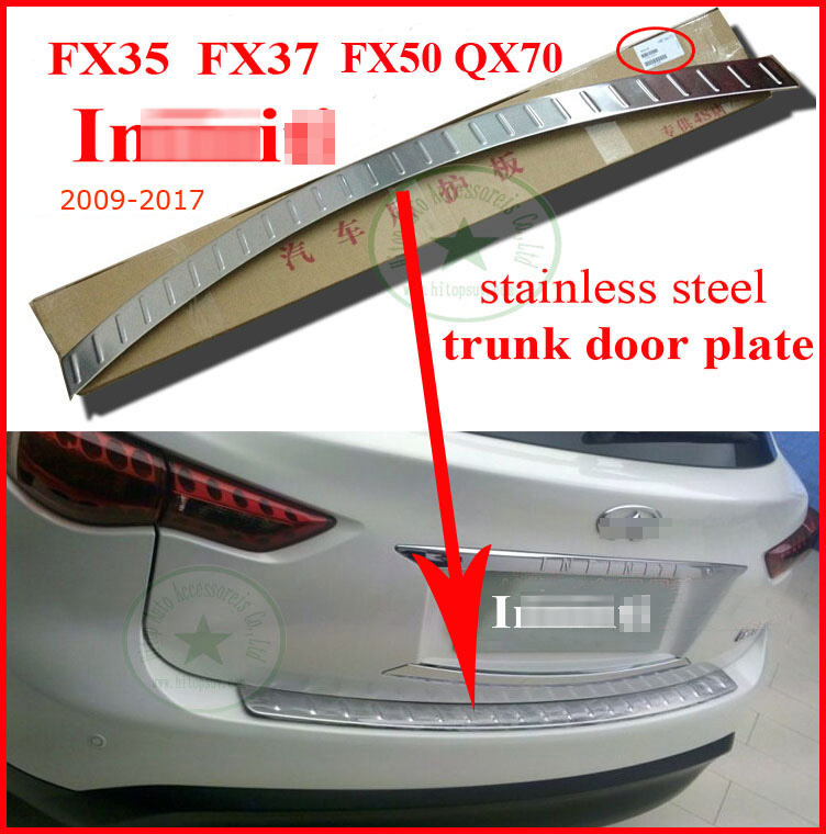 Für INFINITI EX37 EX35 FX FX35 FX37 QX QX70 QX50 hinten stamm einstiegs heckbügel, 304 edelstahl stahl, slap-up qualität