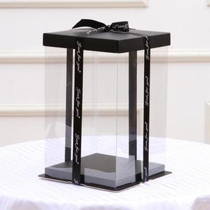Image 3 - 12 inches 40cm Cake Box Rose Bear Box Transparent Empty Gift Box for Teddy Bear Flower Bear Rabbit Gift Box